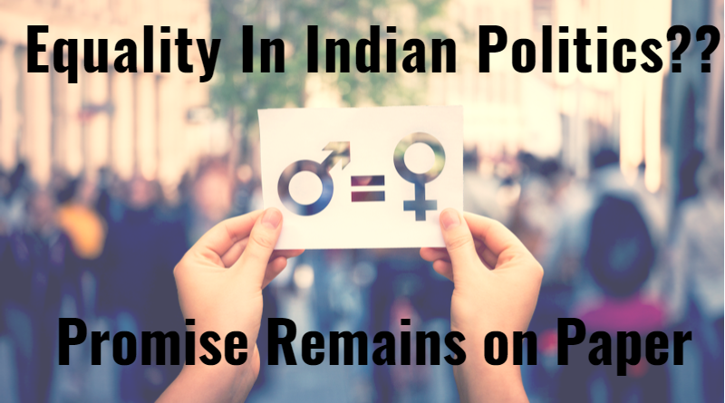 Where are women in Indian Politics?