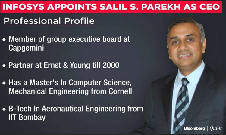 Salil Parekh to take over the as CEO & MD of Infosys